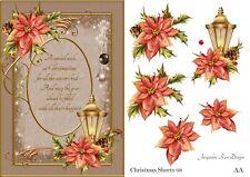Christmas Sheets 08 Decoupage 1 x A4 Sheet NOT DIE-CUT