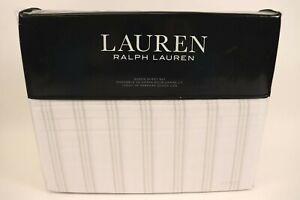 NWT $145 RALPH LAUREN Grey VISTA STRIPE Extra Deep Fitted QUEEN Sheet Set