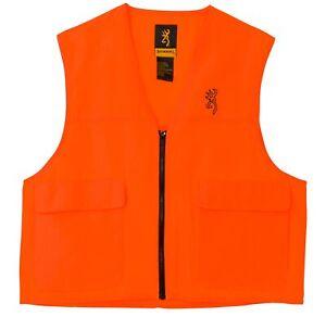 Browning Safety Blaze Overlay Hunting Vest-Blaze Orange-Large-3051000103