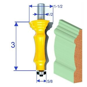 "1 PC 1/2"" SH Door & Window Casing Molding Router Bit S"