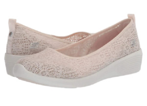 SKECHERS 23758/NAT ARYA-AIRY DAYS Wmn`s (M) Natural Crocheted/Mesh Comfort Shoes