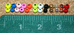 Fly Tying Brass Beads 2.5, 3.0 and 3.2mm metallic/painted 25 per bag