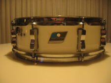 Ludwig Vistalite 70s White 14 x 5 Snare Olive Badge Good Condition NR Vintage!