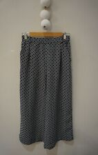 SPORTSGIRL Printed Wide Leg, Cropped Pants - Size 10