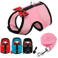 Pet Puppy Leash Harness Dog Cat Soft Mesh Walk Collar Vest for Yorkie Maltese