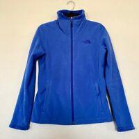 The North Face Womens Fleece Jacket Blue Zip Up Pockets Mock Neck S