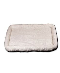 """Happycare Textile Ultra Soft Sherpa Bed 23""""x 36"""" Crate Cushion T4101727"""