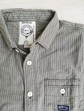DIESEL Chemise homme shirt 100% original 39 Medium slim fit khaki