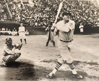 Babe Ruth Original Photo 1934 Japan Tour Amazing Image 14x11
