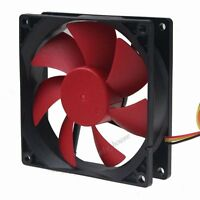Gdstime 90mm Red Wing Ultra Quiet PC Case Cooling fan 12V 3 Pin DC 45CFM 9025