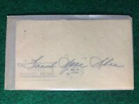 Frank Spec Shea Autographed 1951 Government Postcard GPC Index Card Guaranteed
