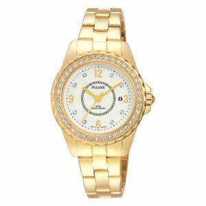 Pulsar Ladies Gold Plated Bracelet Watch - PH7404X1 PNP