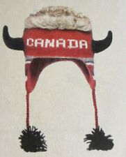 CANADA Moose Horn Canadian FLC LINED beanie toque costume ADULT viking deLux