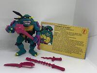 Vintage SLASH TMNT Action Figure Teenage Mutant Ninja Turtles Complete 1990
