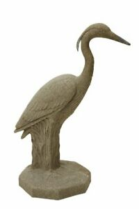 EMSCO Group Great Heron Statue – Natural Sandstone Appearance – Made of Resin...