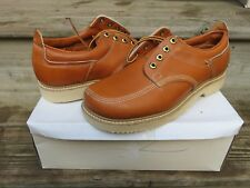 NEW Hanover Tan Leather All Purpose Men's Casual Boots Size 9.5 D New in Box