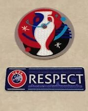 Set Of 2016 UEFA EURO Respect Patch Badge Parche Remendo Flicken Toppa Pièce