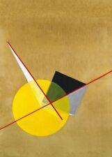"Laszlo Moholy-Nagy ""círculo amarillo"" 250gsm Bauhaus constructivismo Cartel"