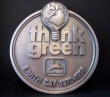 1995 John Deere Earth Day Think Green Pewter Belt Buckle #221/ 500 2nd in Series