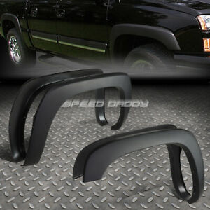 FOR 99-07 SILVERADO/SIERRA PAINTABLE MATTE BLACK OE STYLE WHEEL FENDER FLARES