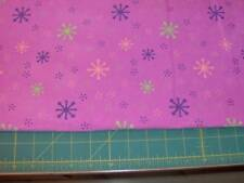"28"" x 40"" bright snowflakes on dark pink flannel"