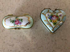 Limoges Heart shaped Trinket Box Lot 2