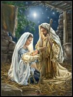 Charts Needlework DIY - Counted Cross Stitch Patterns - The Nativity 2