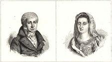 DEUX-SÈVRES. Fontanes; Mme. Maintenon 1835 old antique vintage print picture