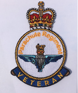 Parachute Regiment Veteran Iron or sew on patch HM Armed Forces Veteran
