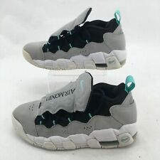 Nike Air More Money Sneakers Casual Shoes Mid Top Lace Up Leather Grey Youth 7
