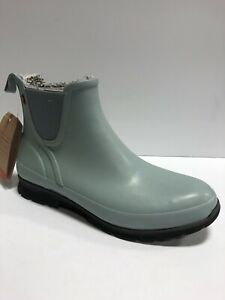 Bogs Women's Amanda, Slip-On Waterproof Rain Boots-Light Blue, Size 11M.