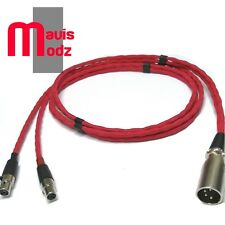 Audeze LCD2 LCD3 Cable lcdx, 16 núcleos sin compromiso equilibrado 4 Pin XLR OCC Cobre