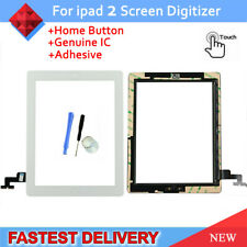 For iPad 2 A1395 A1396 A1397 White Touch Screen Glass Digitizer +Button&Adhesive