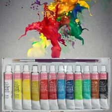 Wall Painting 12 Colors Professional Acrylic Paints Set Hand Painted Textile New