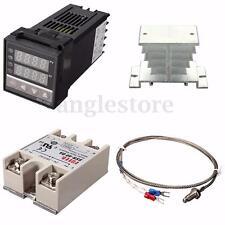 Digital PID Temperature Control + 40A SSR + 1M K Thermocouple Probe + Heat Sink
