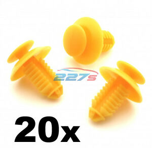 20x Door Card Sill & Kick Plate Trim Cover Clips for Rover 200 25 45 75 MG ZT ZS