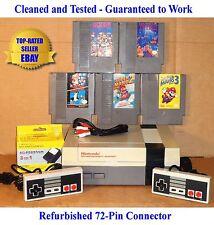 NES Console Bundle + Mario Bros 1 2 3 + Dr Mario & Tetris -BEST PINS -Guaranteed