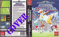 EUROPEAN CLUB SOCCER (1992) MEGA DRIVE COVER, NO CARTUCCIA