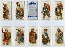 Full Set, Players, Arms & Armour, Blue Backs 1909 VG+ (Gb1833-442)