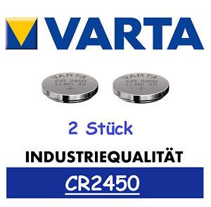 2 x Varta CR2450 Batterien Knopfzellen Knopfzelle Frische Markenware