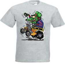 T Shirt grau Hot Rod-,US Car& `50 Stylemotiv Modell Green Monster