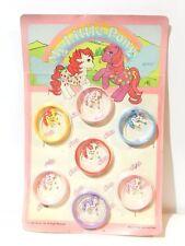 VINTAGE MY LITTLE PONY PLASTIC BRACELET 7 DIFFERENT COLORS G1 / RARE / 1986