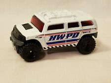 2003 POLICE PURSUIT Exclusive ROCKSTER hummer☆White; HWPD☆LOOSE Hot Wheels