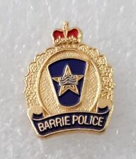 canada barrie city police lapel pin badge