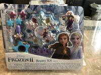 Disney Frozen Makeup Set Elsa Anna Cosmetic Beauty Kit w/ Shimmer Jewelry Nails