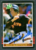Kevin McReynolds #42 signed autograph auto 1985 Donruss / Leaf Baseball Card