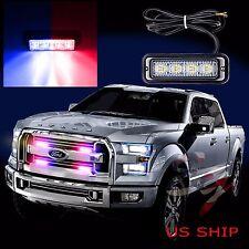 1X 4 LED Car Truck Emergency Beacon Light Bar Hazard Strobe Warning Red Blue
