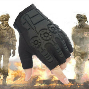 Men Tactical Half Finger Gloves Outdoor Military Army Sports Shooting Hiking