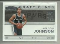 Keldon Johnson RC 2019-20 Panini Contenders Draft Class Rookie Kentucky Spurs