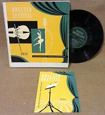 "PROMO DUTCH CLASSICAL IMPORT 4 10"" BOX SET HOLLAND FESTIVAL 1958 Radio Nederland"
